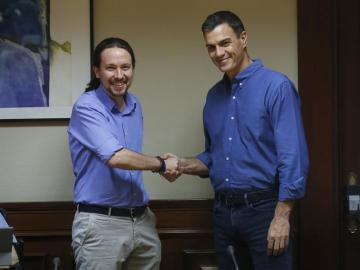 Iglesias y Sánchez, reunidos para concretar y orientar su colaboración