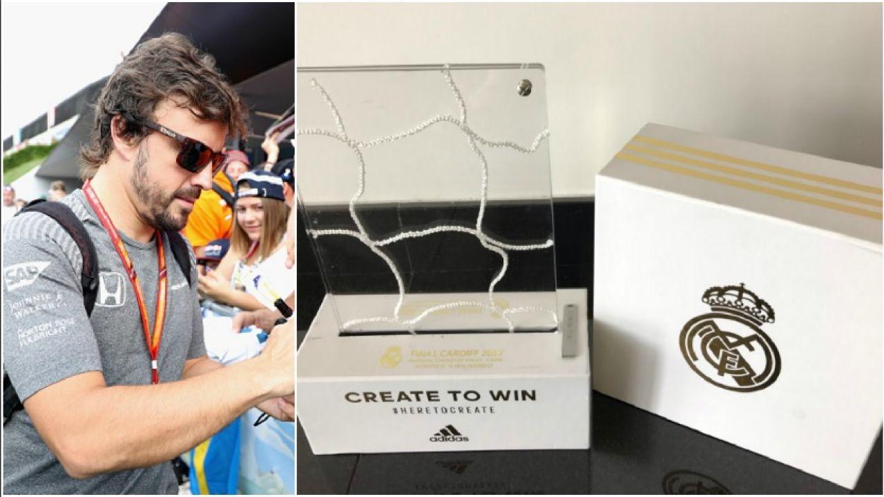 Detalle del Real Madrid con Fernando Alonso