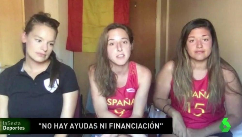 Integrantes de la selección española femenina de Lacrosse