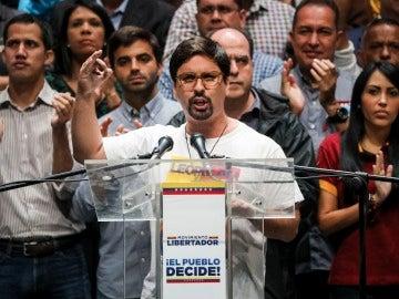 El primer vicepresidente del Parlamento Freddy Guevara