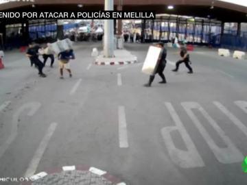 Reducen a un hombre en Melilla que hirió a un agente