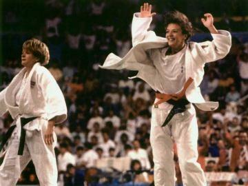 Miriam Blasco después de ganar el oro