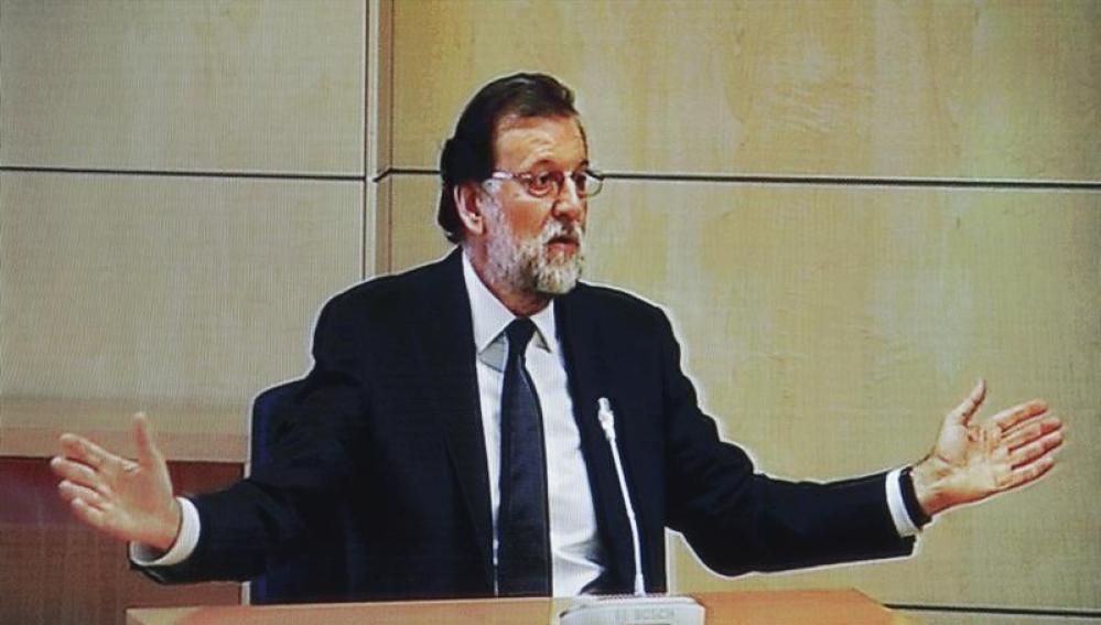 Rajoy durante su declaración en el juicio de Gürtel