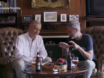 Mikel López Iturriaga con Simon Manley