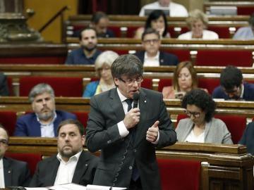 Puigdemont en el Parlament
