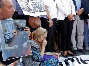 Manifestación por la liberación de periodistas
