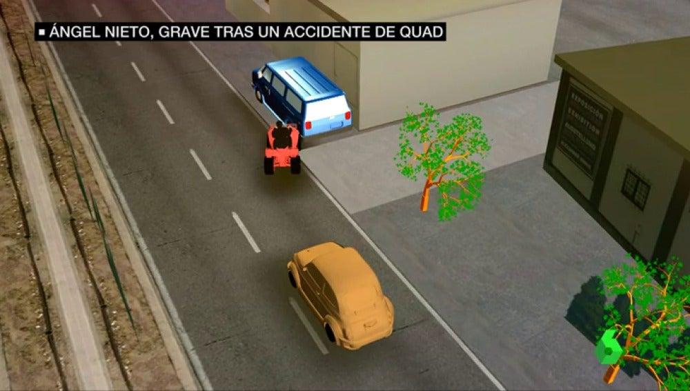 Así ha sido el accidente de Ángel Nieto que le ha dejado en estado grave