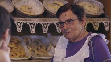 Herminia Rodríguez propietaria de una pastelería de dulces hebreos