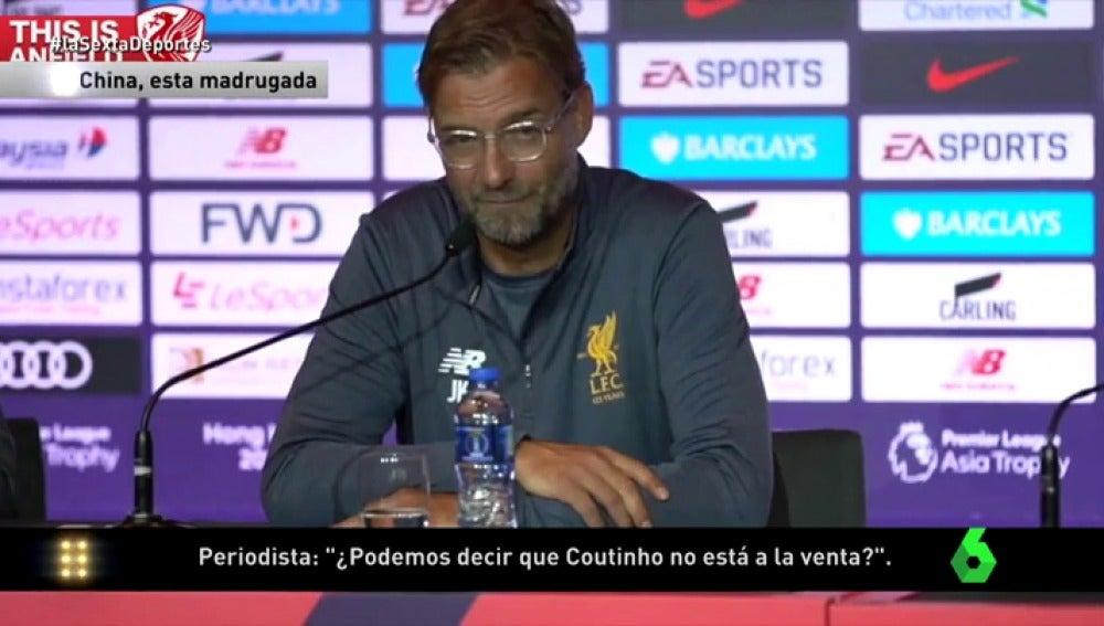 "Klopp insiste: ""Coutinho no está en venta"""