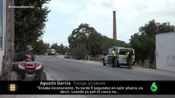 """Un testigo del accidente de Ángel Nieto: """"El quad salió volando hacia la furgoneta y él chocó contra el suelo"""""""