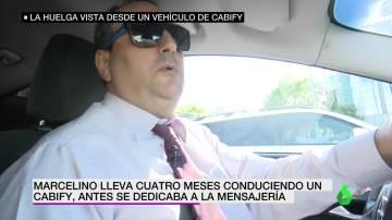 A bordo de un coche Cabify en plena huelga de taxistas