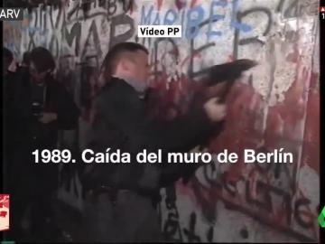 Imagen de la caída del muro de Berlín