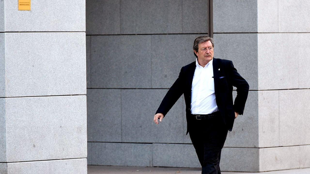 Larrea, a su salida de la Audiencia Nacional