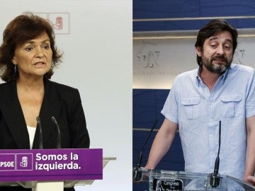 Carmen Calvo y Rafael Mayoral