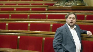 Junqueras, presidente de ERC, tras la aprobación
