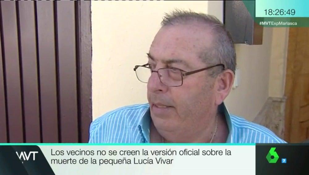 Vecino de Pizarra explicando su versión de la desaparición