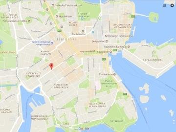 Zona de Helsinki donde ha tenido lugar el atropello