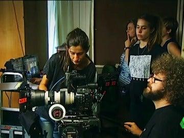 Cámaras durante la grabación de una película