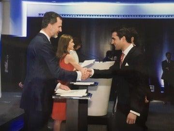 Javier Bosch junto al rey Felipe VI