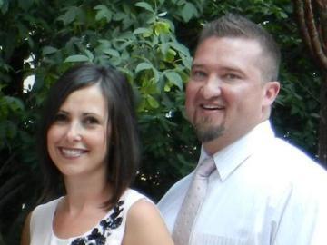 La víctima Kristy junto a su marido Kenneth