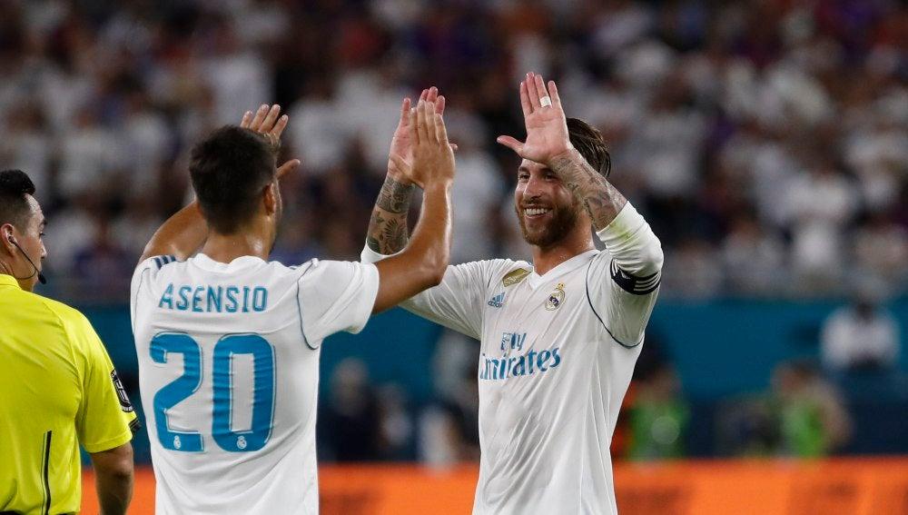 Sergio Ramos con Asensio