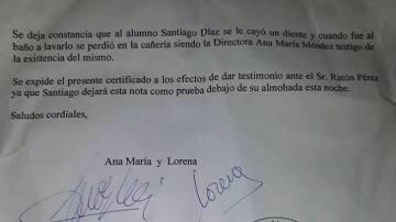 La carta de las profesoras al ratoncito Pérez