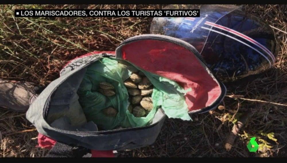 Las mariscadoras denuncian a los 'furtivos de bañador', los turistas que les roban el género en la Ría de Arousa
