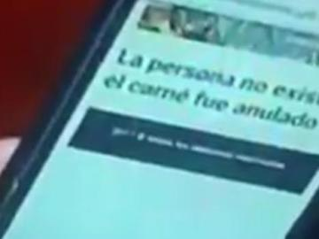 "Captura del momento en que apareció ""persona no existe"" a Maduro"