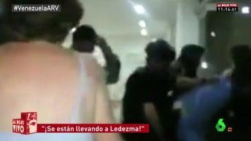"""""""¡Violación! ¡Dictadura!"""": tensión en la detención del opositor venezolano Antonio Ledezma"""
