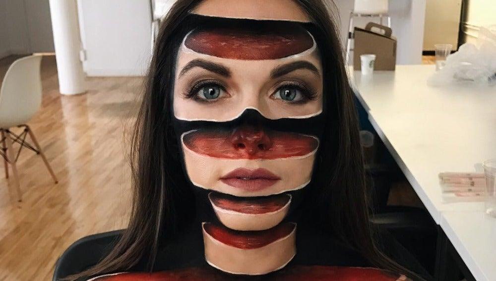Ilusión óptica con maquillaje