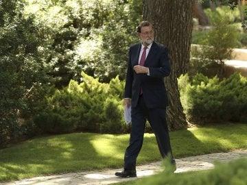 Rajoy, tras la reunión con el rey