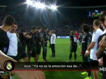 """La 'pillada' de Isco y Lucas Vázquez: """"No es la emoción esa de la primera..."""""""
