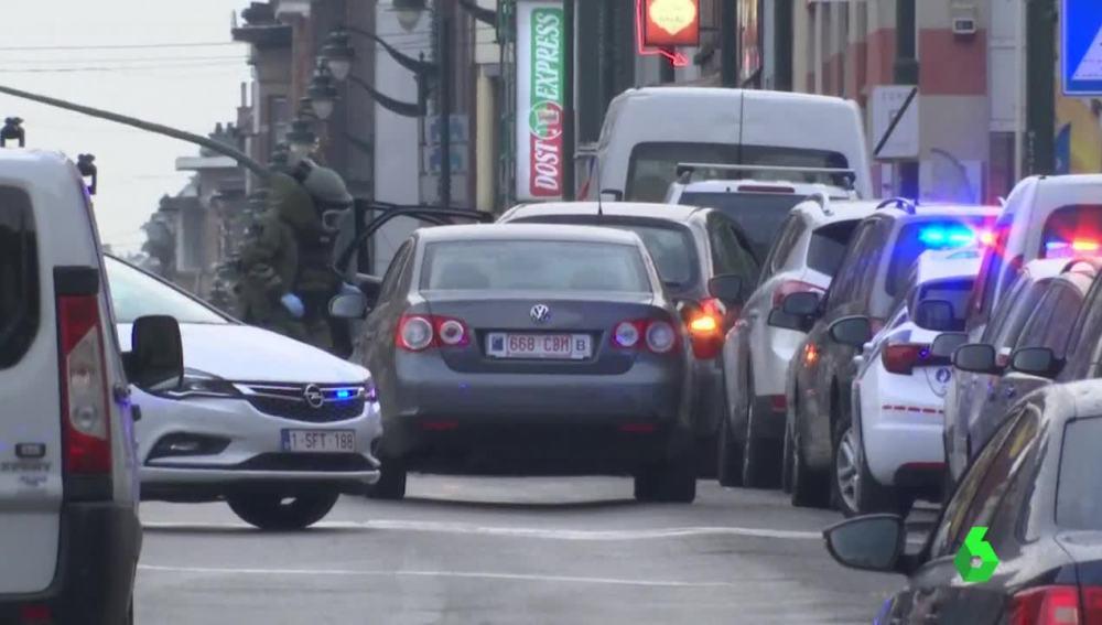 Coche detenido en Bélgica