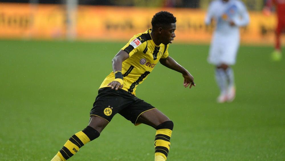 Dembélé, en un partido con el Borussia Dortmund