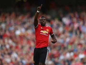 Paul Pogba celebra un gol con el Manchester United