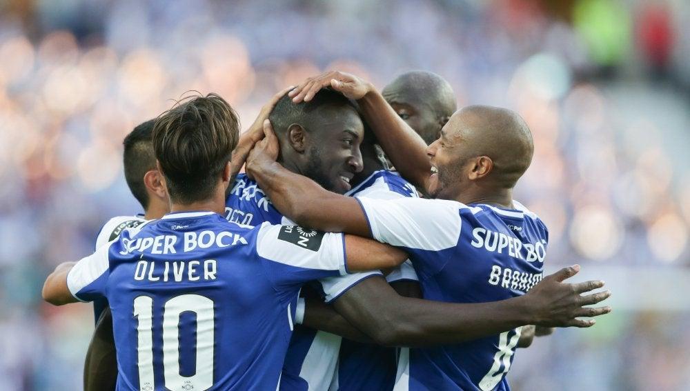 El Oporto FC celebrando uno de los goles