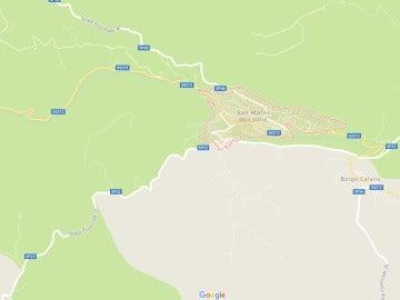 Estación de San Marco in Lamis, en la región de Foggia