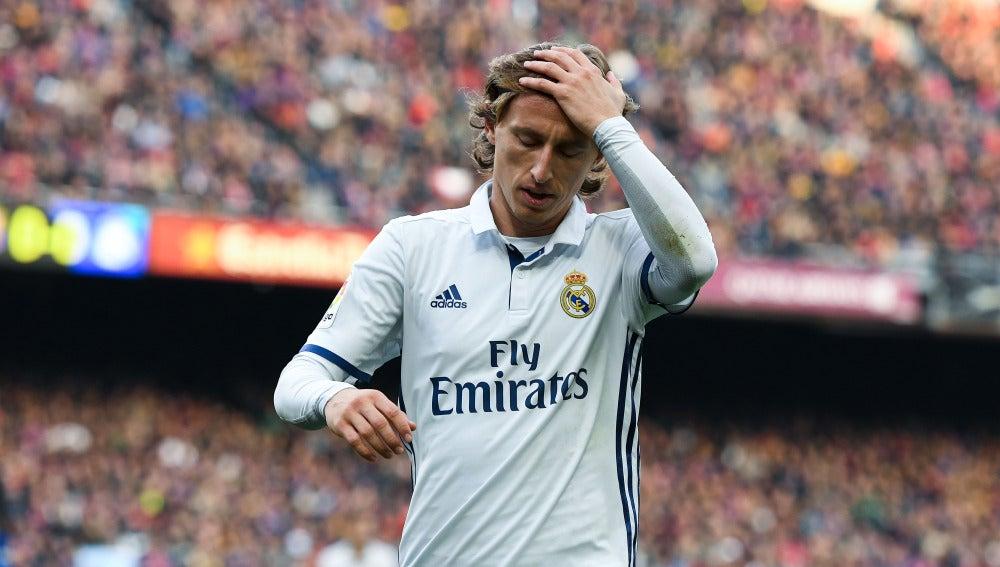 Luka Modric, en un partido en el Camp Nou