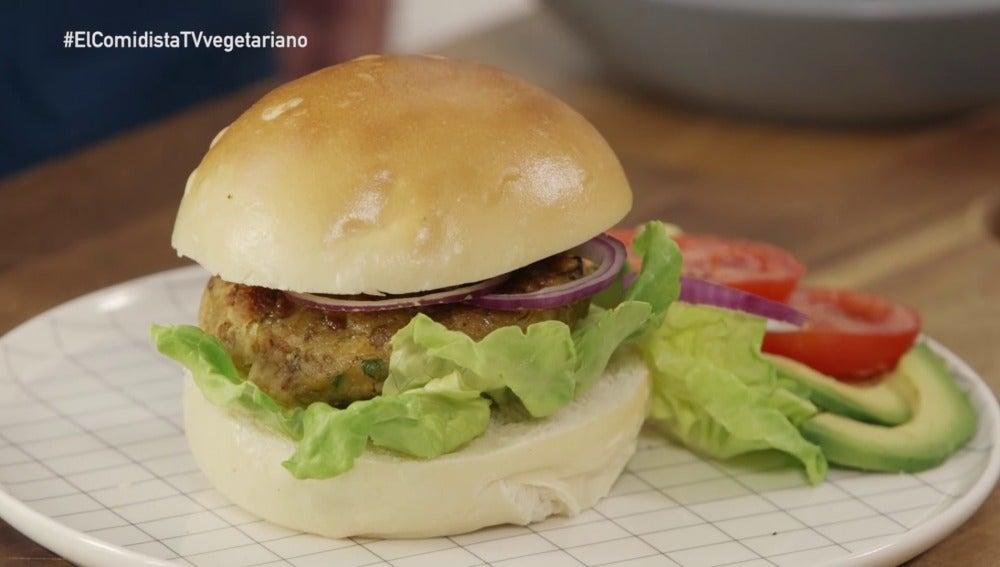 Hamburguesa vegetariana en El Comidista TV
