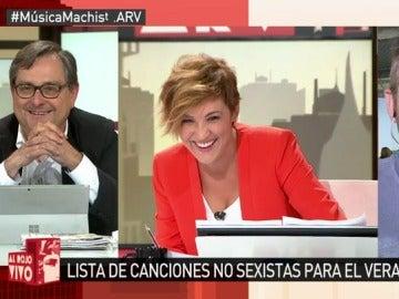 Marhuenda, Cristina Pardo y Frank Blanco