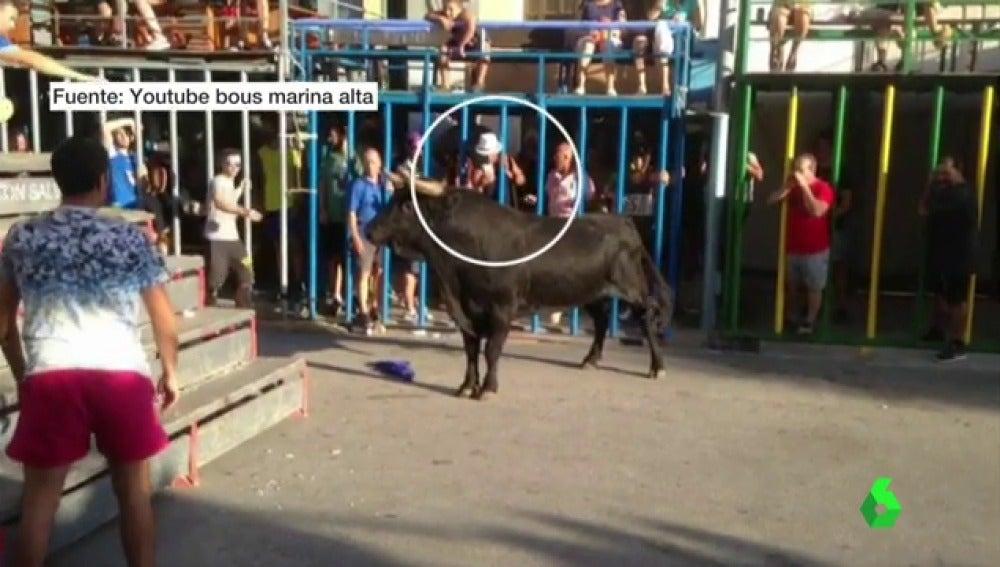Corneado grave mientras sacaba una foto con el móvil al toro en Calpe