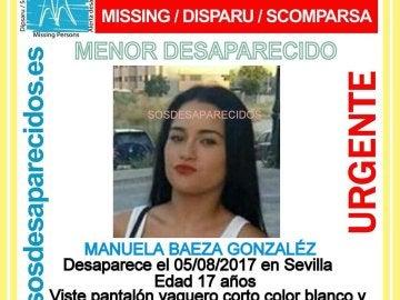 Se busca a Manuela Baeza, desaparecida en Sevilla