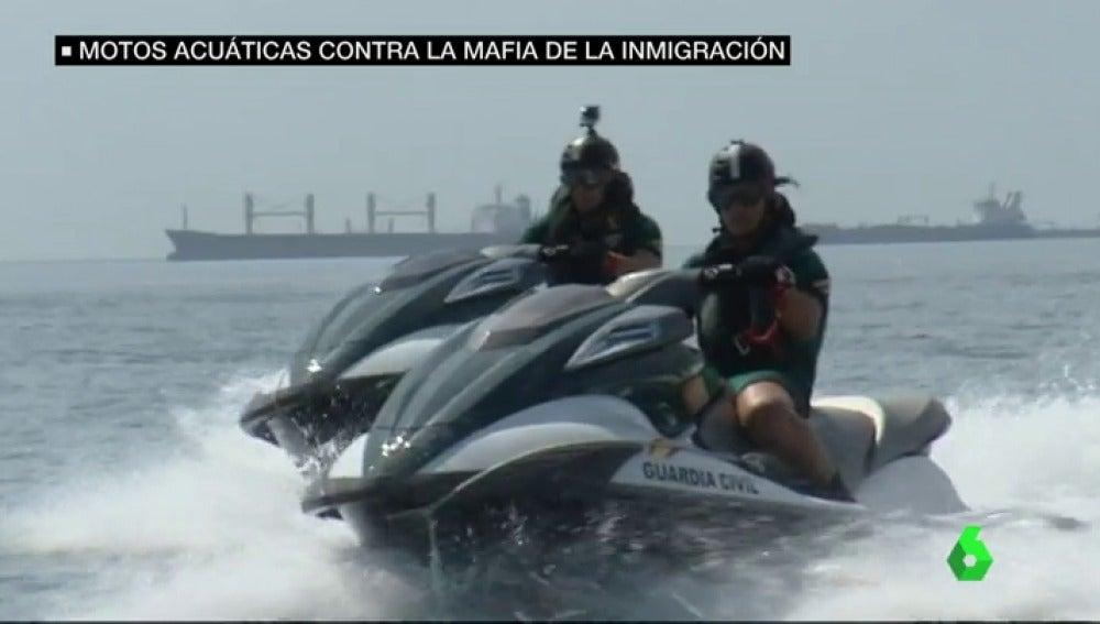 Aumenta  el número de migrantes que llegan a España en motos de agua