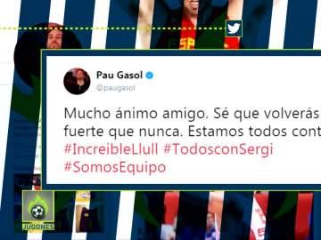 Pau Gasol manda un mensaje de apoyo a Sergio Llull
