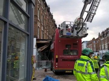 Autobús accidentado en Londres