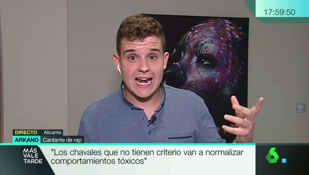 """Arkano le dedica un rap a 'Más Vale Tarde' sobre el machismo: """"A todos los canales: no son enfermos mentales, son hijos sanos del patriarcado"""""""