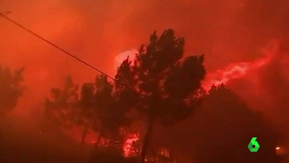 Uno de los incendios de Portugal