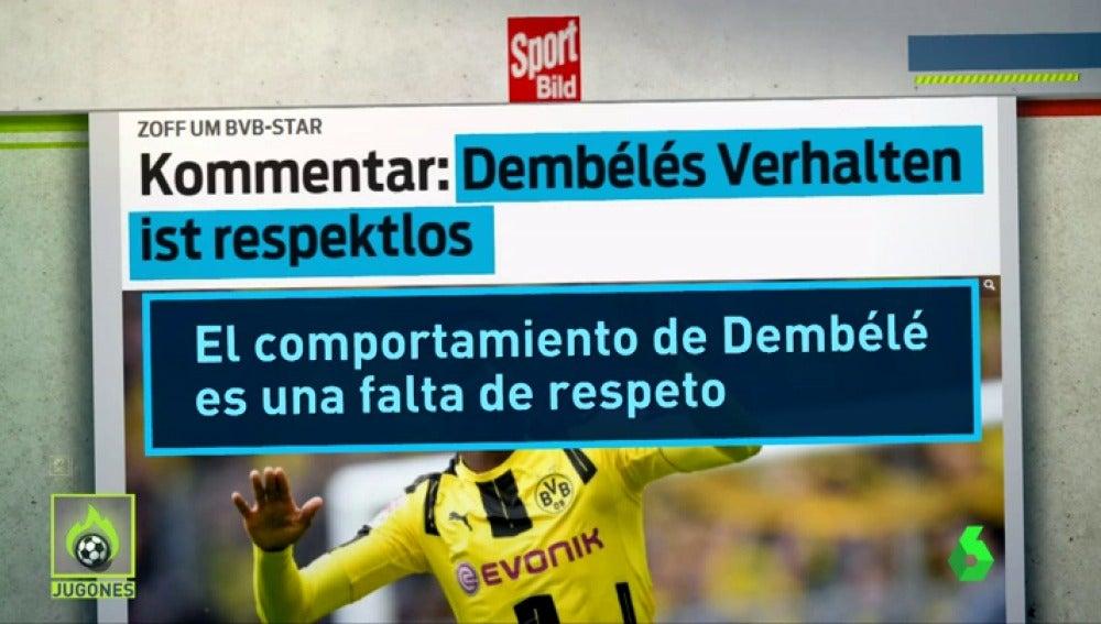 Los medios alemanes cargan contra Dembélé