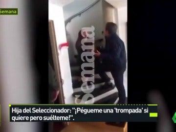 Sale a la luz el vídeo en el que el seleccionador de Honduras agrede a su hija