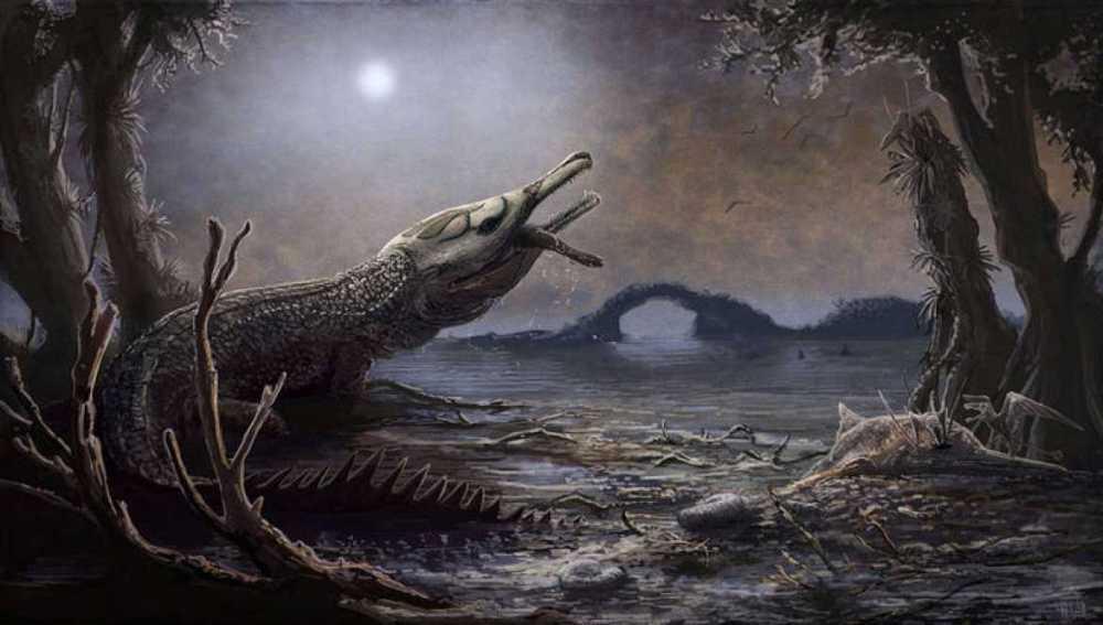 Recreación del Lemmysuchus